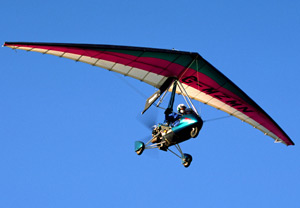 A picture of a microlight